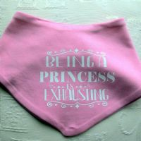 Baby Bandana Bibs 'Being A Princess' Pack of 2